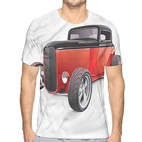 Jinguizi t Shirt Cars,Nostalgic American Wheels Printed t Shirt XXL ()