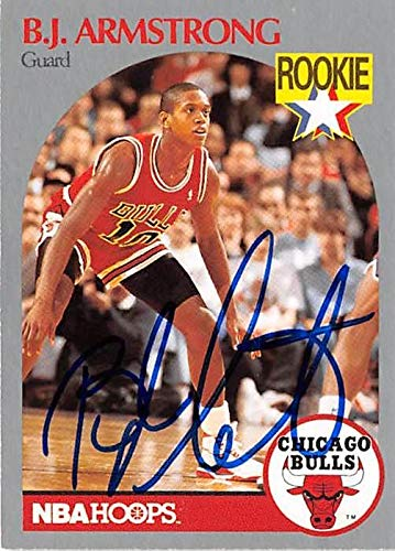 Amazoncom Bj Armstrong Autographed Basketball Card Chicago
