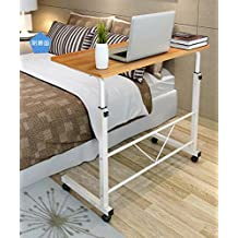 Best to Buy Adjustable (27.6inch-34.6inch) fashion Modern Laptop Notebook Desk Over Sofa Bed Table Stand (Wood)