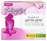 Playtex Simply Gentle Glide Multipack Unscented Tampons with Regular and Super Absorbencies, 50 Count (Packaging May Vary)