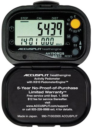 ACCUSPLIT Health Engine AH190M28 Pedometer/Step Counter with