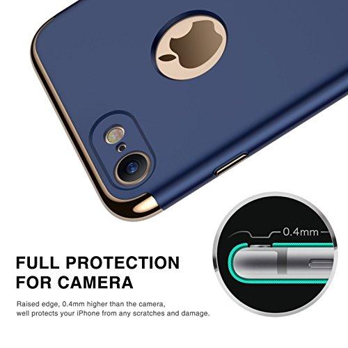 iPhone 7 Funda,iPhone 7 Plus Funda,iPhone 6/6S Funda, iPhone 6 Plus Funda, iPhone 6S Plus Funda,Manyip Delgado El color, Funda,3 in 1 La combinación de tres párrafos, Protectiva Case Cover (QT-02) E