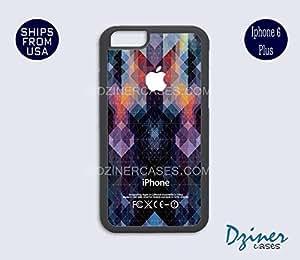 iPhone 6 Plus Case - Black Colorful Geometric Design iPhone Cover