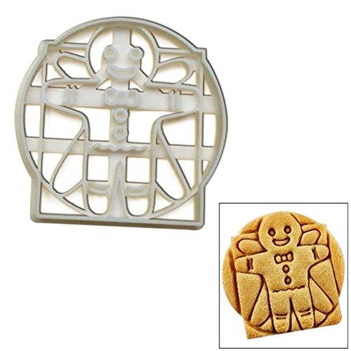 Vitruvian Gingerbread Man cookie cutter, 1 pc, Inspired by Leonardo Da Vinci, Ideal for Halloween -