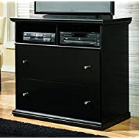 Ashley Furniture Signature Design - Maribel Media Chest - Entertainment Console - TV Stand - 2 Drawer - Black