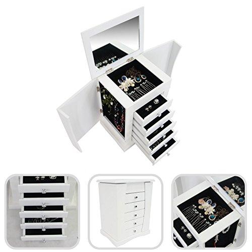 Schmuckständer-Schmuckkasten mit Schubladen und integriertem Spiegel-schöner Kosmetikkoffer