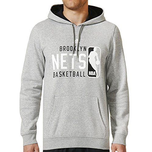 fan products of adidas Performance Mens Brooklyn Nets Basketball Hoodie - XL