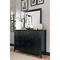 Modus Paragon 8 Drawer Dresser in Black