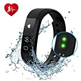 he lineee Fitness Watch, Heart Rate Monitor Fitness Tracker, Waterproof Activity Tracker Smart Bracelet with Pedometer Sleep Monitor Compatible with Android Smartphone