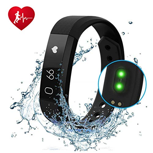 Fitness Tracker, Activity Tracker Watch with Heart Rate Monitor, Waterproof Smart Fitness Band with Step Counter, Calorie Counter, Child Female and Male Pedometer Watch