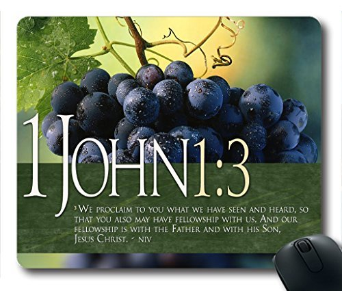Inspirational Bible Verse Quotes John 1:3 Oblong Mouse Pad in 240mm*200mm*3mm VQ0711008