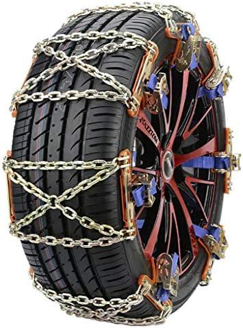 車のタイヤ滑り止めチェーン緊急ユニバーサルスノーチェーン、のための調節可能な冬のクラシック合金鋼のスノーチェーン、自動車/トラック/ SUVタイヤ幅165ミリメートル、195mmm (Size : 10pcs)