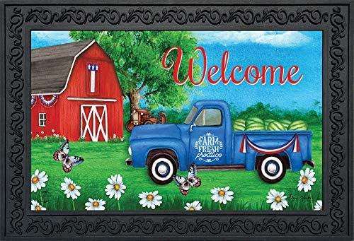 Briarwood Lane Sunshine Barn Summer Doormat Farm Fresh Indoor Outdoor 18 x 30