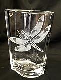 Hand Engraved Dragonfly crystal Vase, Orrefors, Vase, Dragonflies, crystal floral vase, Home Decor Floral Vase, Crystal Vase Dragonflies