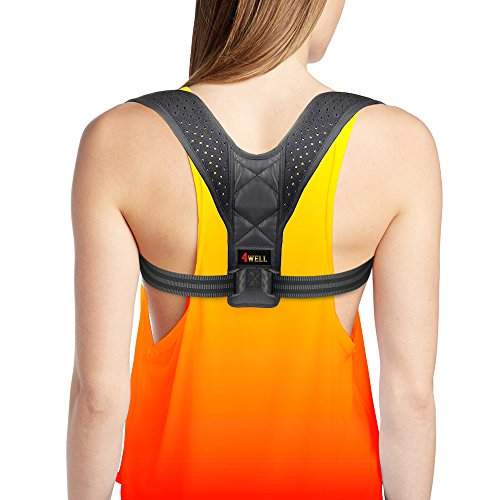 Rounded Support (Posture Corrector for Women - Rounded Shoulders Ultimate Comfort Shoulder Corrector Clavicle Cervical Wearable Support for Upper Back. Shoulder & Neck Pain Relief)