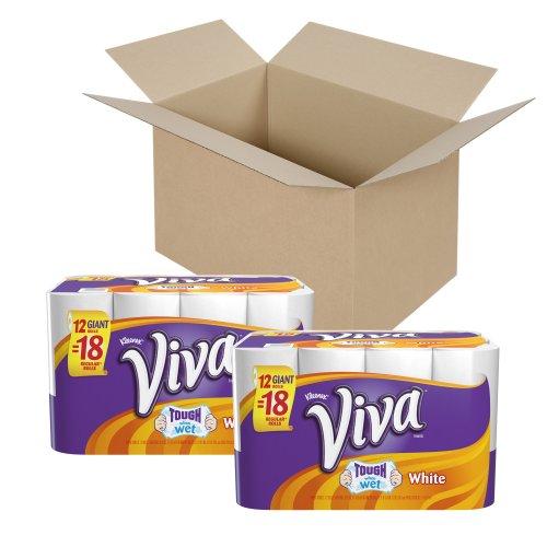 Viva Paper Towels, White, Giant Roll, 12 Rolls