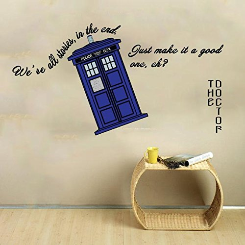 We Are All Stories Doctor Life Inspirational quote Wall Decal Vinyl Sticker