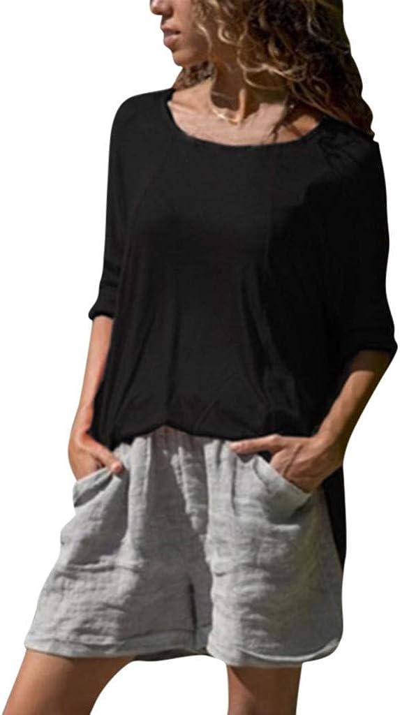 Women V Neck Ladies Leopard Print Long Sleeve Loose Shirt Tops Blouse Size 6-20