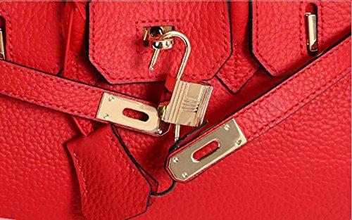 Genuine And European Handbags Handle Leather Classic Padlock American Green GSHGA Top 5qSCwXX
