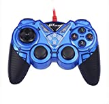 Dual Shock Wired USB Gamepad Controller for PC with Gripped Joysticks
