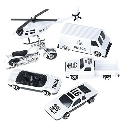 Oasis Supply Police & Highway Patrol Cake Topper Kit - 6 pcs