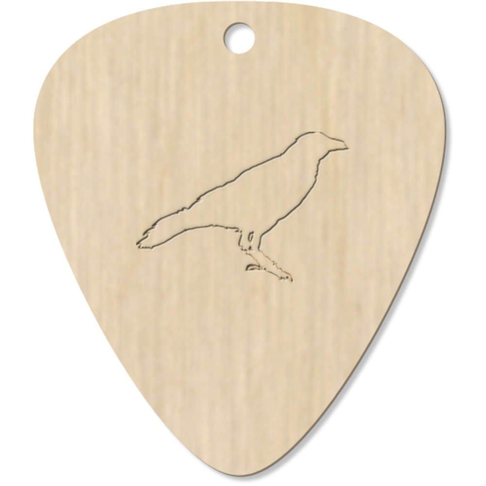Pendentif GP00006129 plectre Azeeda 7 x Contour de Corbeau m/édiator pour Guitare