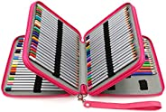 BTSKY® Deluxe PU Leather Pencil Case for Colored Pencils - 120 Slot Pencil Holder