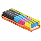 INKUTEN Remanufactured Ink Cartridge Replacement for New Generation Hewlett Packard HP 564XL (5 Black, 3 Cyan, 3 Magenta, 3 Yellow) 14-Pack CN684WN CN685WN CN686WN CN687WN Compatible With Photosmart 5510 5512 5514 5515 5520 5522 5524 5525 6510 6512 6515 6
