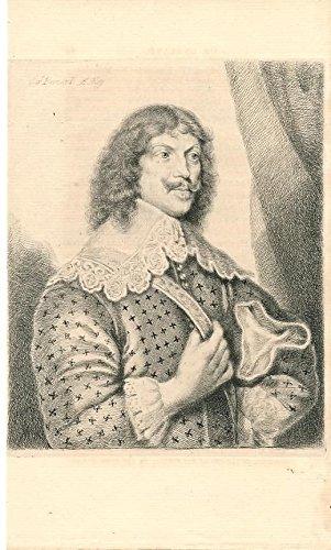 Sir Bernard Astley c.1800 fine antique engraved historical portrait