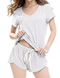 Women's Lightweight Soft Pajama Set With Short Pants by NORA TWIPS(Gary,S)