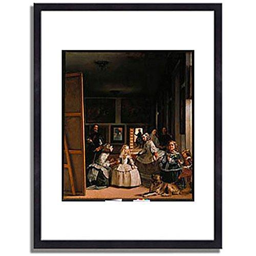 ベラスケス「ラスメニーナス Las Meninas (The courtladies). 」 インテリア アート 絵画 プリント 額装作品 フレーム:木製(黒) サイズ:S (221mm X 272mm) B00N63SVAO 1.S (221mm X 272mm)|3.フレーム:木製(黒) 3.フレーム:木製(黒) 1.S (221mm X 272mm)