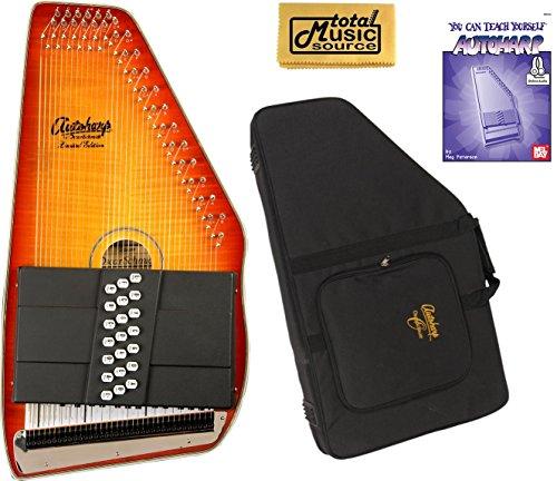 Oscar Schmidt 21 Chord Autoharp, Flame Maple Top, Honey Sunburst, OS11021FHS by Oscar Schmidt