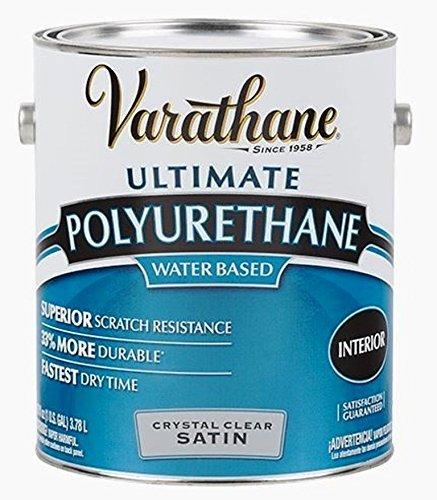 RUST-OLEUM 200231 Varathane Gallon Satin Interior Waterborne Diamond Polyurethane Scratch and Stain Protection -