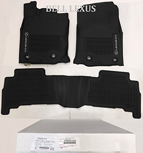 Lexus OEM Factory All Weather Floor MAT Liner Set 2016-2018 GX460 Black