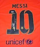 Lionel Messi Signed Jersey - Orange Loa - PSA/DNA Certified - Autographed Soccer Jerseys