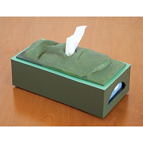 Bits and Pieces-Tissue Box Cover Stone Face Tissue Holder - Great gag gift for your office, desk, or living room