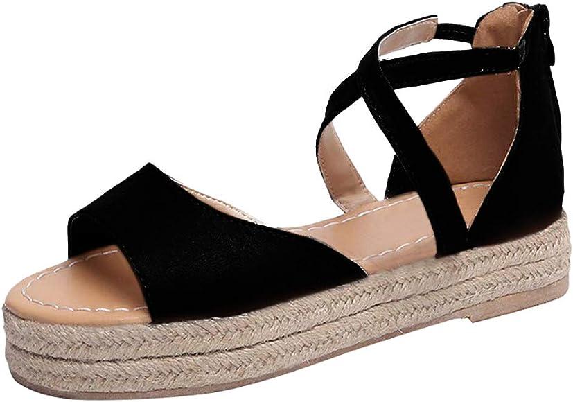 Athlefit Womens Platform Sandals
