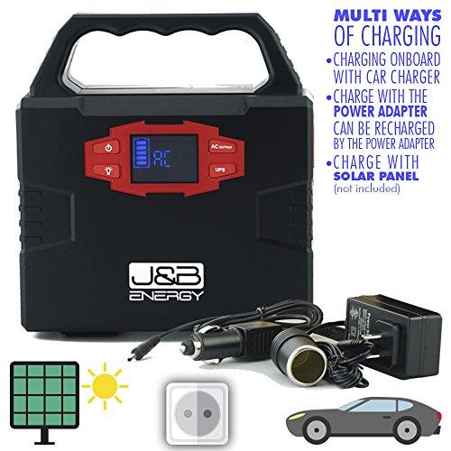 Portable station J&B Energy, with AC power 5V USB ports, 12V Port, perfect for emergency,