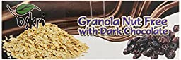 Oskri Granola Nut Free Bar, Raisins with Dark Chocolate, 1.9-Ounce (Pack of 20)
