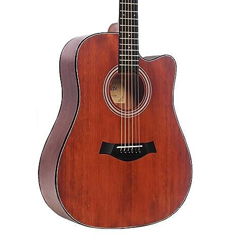 GFEI Folk caja electrica chapa de madera para Guitarra / Guitar Beginner Novice alumnos instrumentos musicales: Amazon.es: Instrumentos musicales