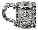 Ebros Medieval Templar Crusader Knight Mug 12oz Suit of Armor Knight Of The Cross Beer Stein Tankard Coffee Cup