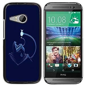 Carcasa Funda Prima Delgada SLIM Casa Case Bandera Cover Shell para HTC ONE MINI 2 / M8 MINI / Business Style Funny Angler Fish Sea Monster