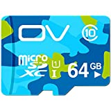 OV (64GB, Camo) Micro SDXC Class 10 TF CARD UHS-1 READ SPEED up to 80MB/s High Performance Flash Memory 3 years warranty use SAMSUNG FLASH 100% TESTED generation 3 US