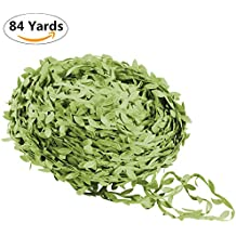 Artificial Vine Fake Leaves 84/218Yards Artificial Leaf Garlands Fake Hanging Plants Fake Foliage for Wreath Party Wedding Wall Crafts Decor (Green, 84 Yards)