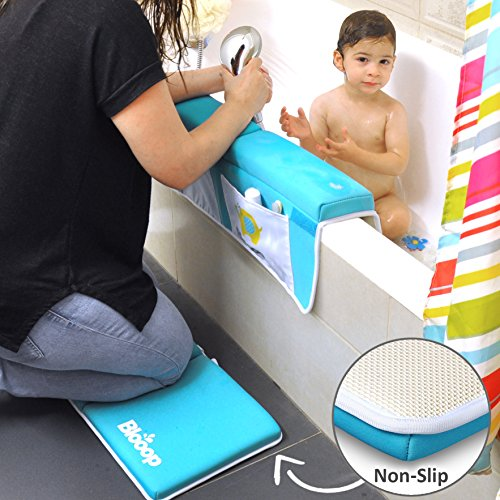 Bath Kneeler with Elbow Rest Pad Set (2-Piece), X-Long, Thick, Knee Cushioned Bathtub Support | Non-Slip Bottom, 4 Caddy Pockets | Hypoallergenic Padding | Blooop Bath Kneeling Pad by Blooop (Image #6)