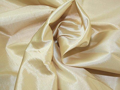 Plain Shot Taffeta Dress Fabric Wheat - per metre