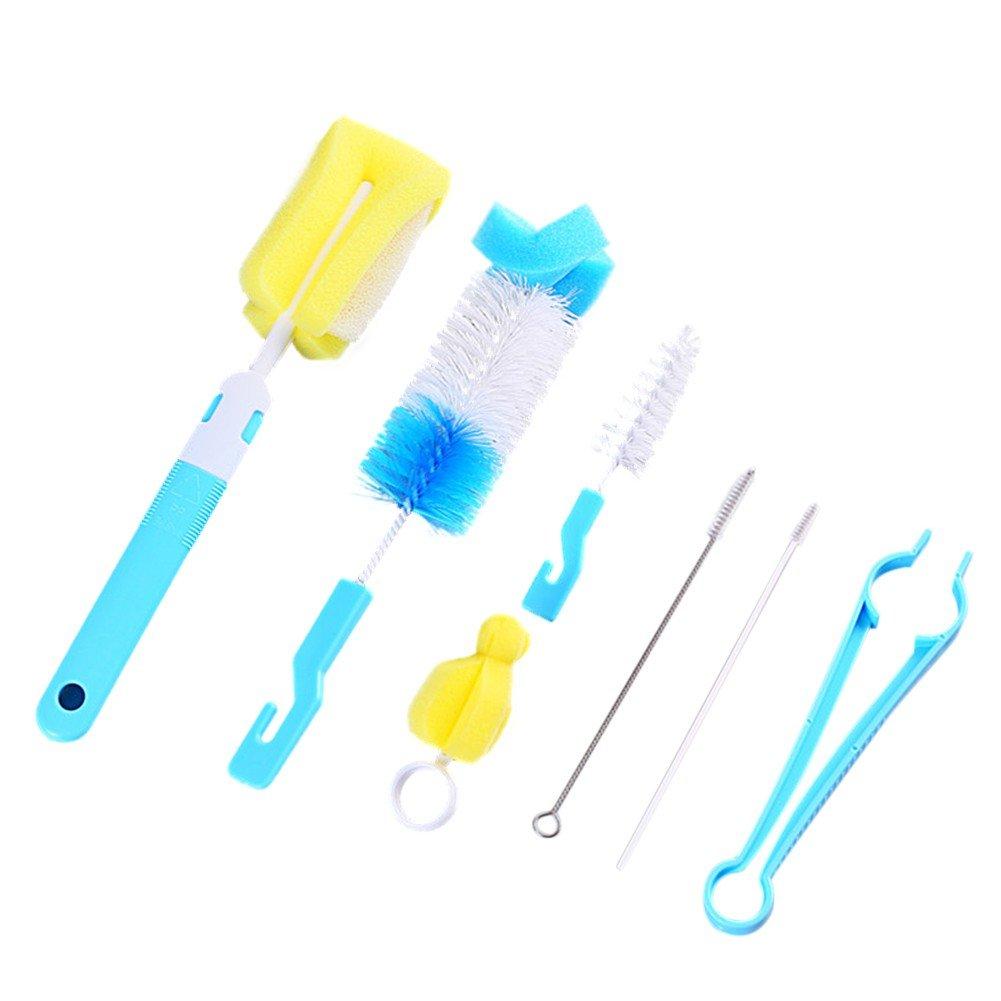 Loveble Baby Bottle Brush,Bottle Cleaning Brush Set,for Teats/Bottle Feeding Nursing Milk Bottles,Also for Cups/Bottle/ Straw/Decanter