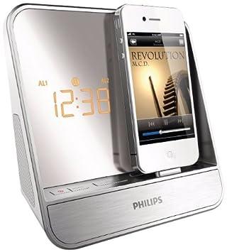 Philips AJ5300D/12 - Radiodespertador con puerto dock para Apple iPod/Apple iPhone, plata: Amazon.es: Electrónica