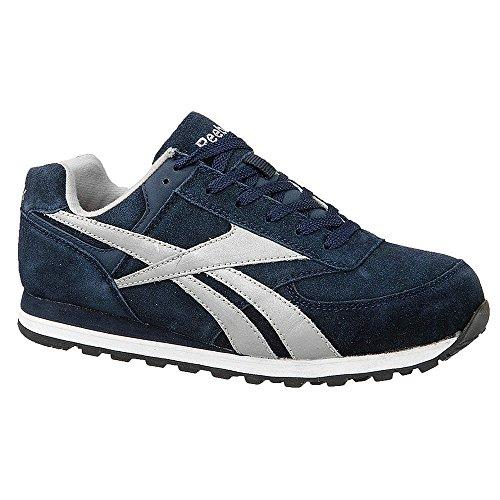 Reebok Chaussures De Travail Style Athlétique Pour Femme, Type Embout En Acier, Dessus En Daim, Bleu Marine, Taille 9m - 1 Chacun