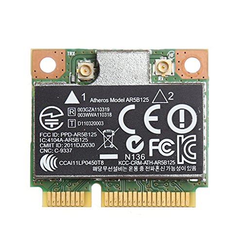 Yuly 150M WiFi WLAN PCI-E Wireless Card Adapter for Atheros AR5B125 SPS 675794-001 HP PN 670036-001